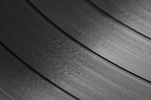 picture of a record ready to be cut into a shape