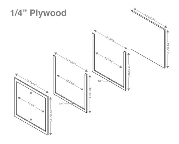 Picture of the frame plans