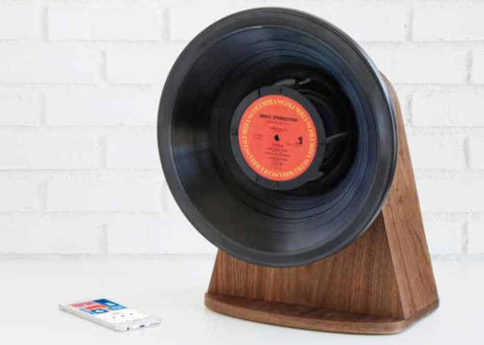 picture of the Vinyl Bluetooth Speaker from Uncommon Goods